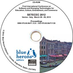Academic CD Proceedings: SETECEC 2012  (Venice, Italy) :: ISBN 978.88.96.471.12.8 ::  DOI: 10.978.8896471/128